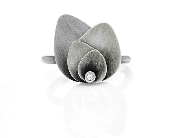 Petal-Ring-In-Silver